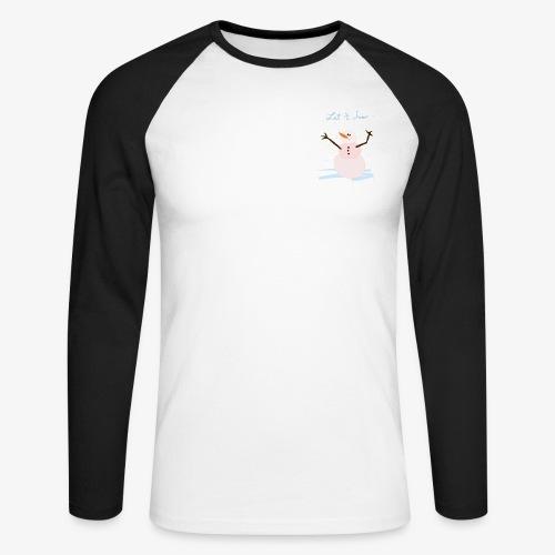 snowman let it snow - Men's Long Sleeve Baseball T-Shirt