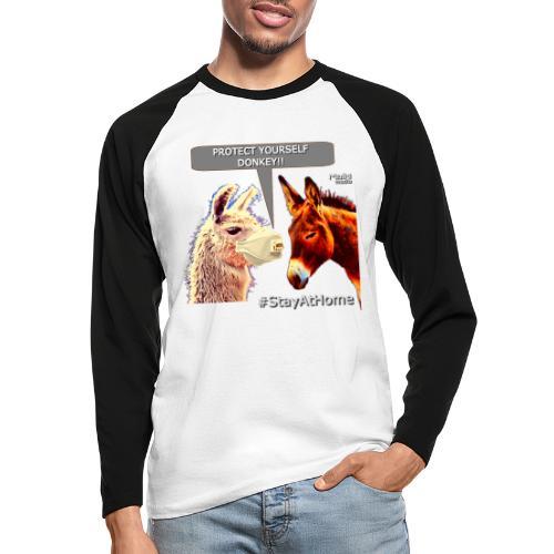 Protect Yourself Donkey - Coronavirus - T-shirt baseball manches longues Homme