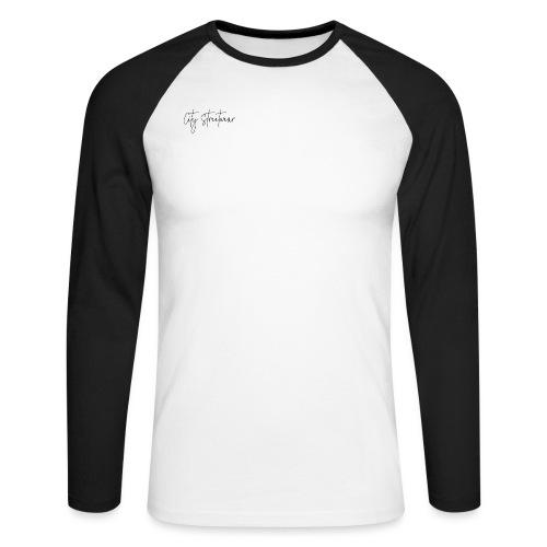 city streetwear - Langærmet herre-baseballshirt