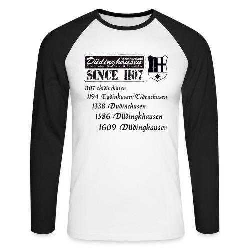 since 1107 text s - Männer Baseballshirt langarm