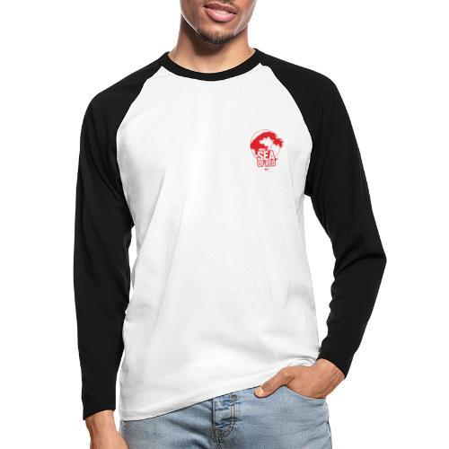Sea of red logo - small red - Men's Long Sleeve Baseball T-Shirt