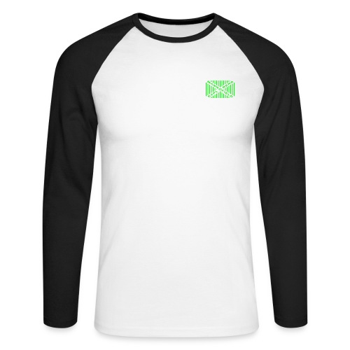Mannofield Explorers Logo - Men's Long Sleeve Baseball T-Shirt