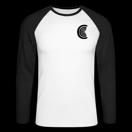 calm logo - Men's Long Sleeve Baseball T-Shirt