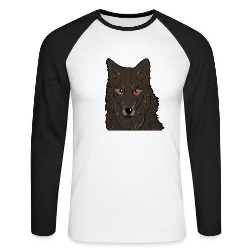 HikingMantis Wolf png - Langærmet herre-baseballshirt