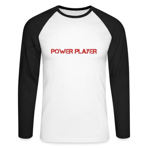 Linea power player - Maglia da baseball a manica lunga da uomo