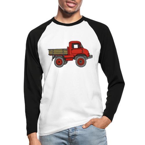 Roter Lastwagen, LKW, Laster - Männer Baseballshirt langarm