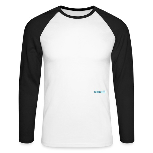 checkde Logo petrol Outline RGB png - Männer Baseballshirt langarm