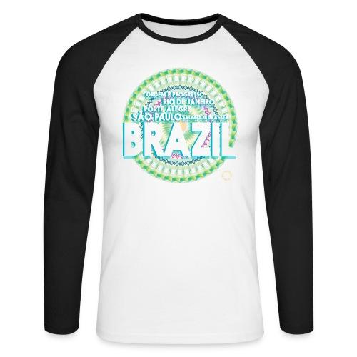 Lemon Brazil Mandala - T-shirt baseball manches longues Homme