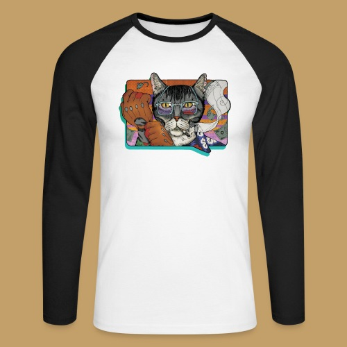 Crime Cat - Koszulka męska bejsbolowa z długim rękawem