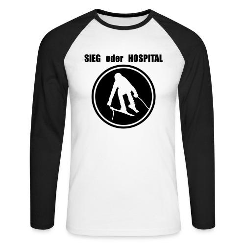Sieg oder Hospital SuperG im Kreis - Männer Baseballshirt langarm
