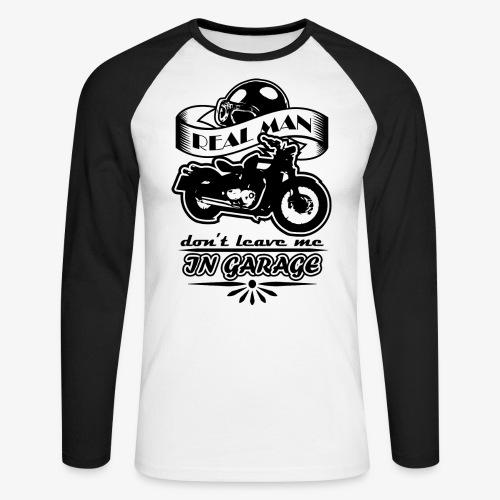 biker style - Maglia da baseball a manica lunga da uomo
