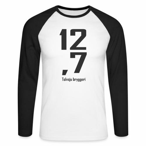 127 LOGO BASE png - Langermet baseball-skjorte for menn