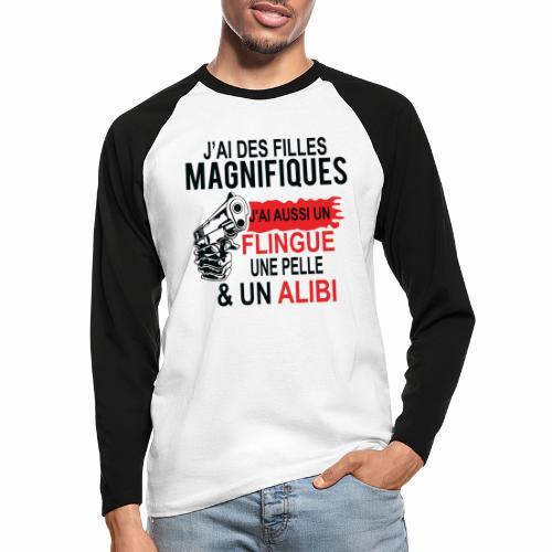 J'AI DEUX FILLES MAGNIFIQUES Best t-shirts 25% - T-shirt baseball manches longues Homme