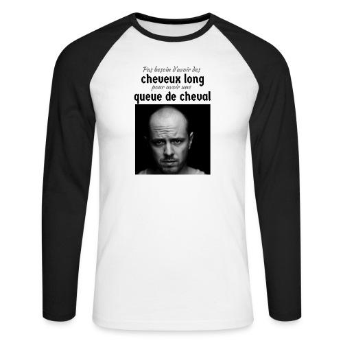 Humour Chauve ! - T-shirt baseball manches longues Homme