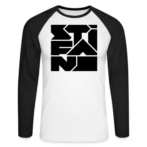 Logo Stifano versie 02 BLACK 2000px png - Mannen baseballshirt lange mouw