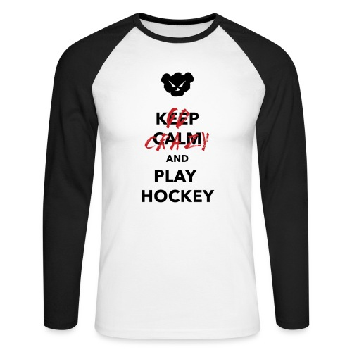 keepcalm png - T-shirt baseball manches longues Homme