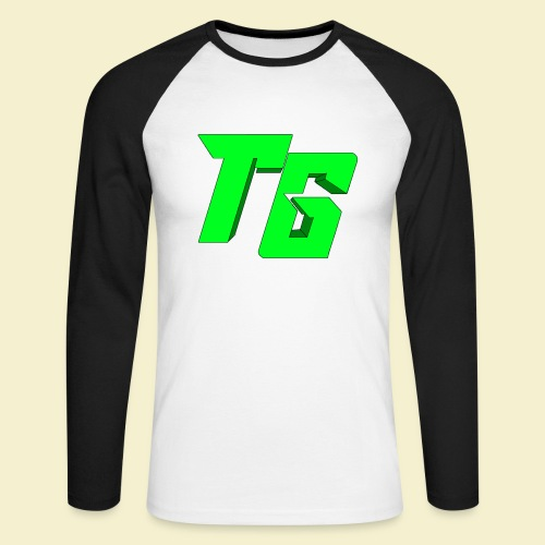 TristanGames logo merchandise [GROOT LOGO] - Mannen baseballshirt lange mouw