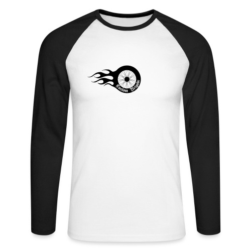 roue flame - T-shirt baseball manches longues Homme