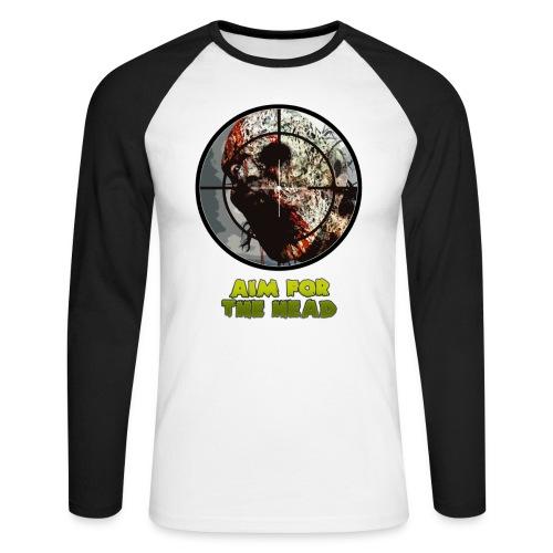 Aim For The Head Zombie Killers! - Men's Long Sleeve Baseball T-Shirt
