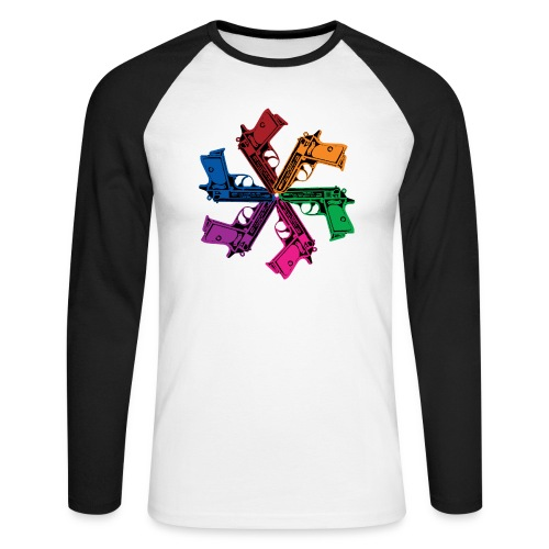 6 GUNS - Langærmet herre-baseballshirt