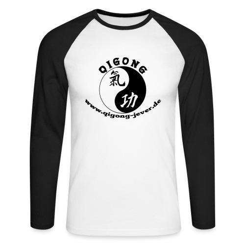 logo grau ohne umriss - Männer Baseballshirt langarm