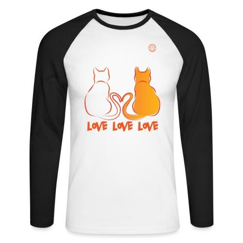 The Red Twins LOVE LOVE LOVE - Maglia da baseball a manica lunga da uomo