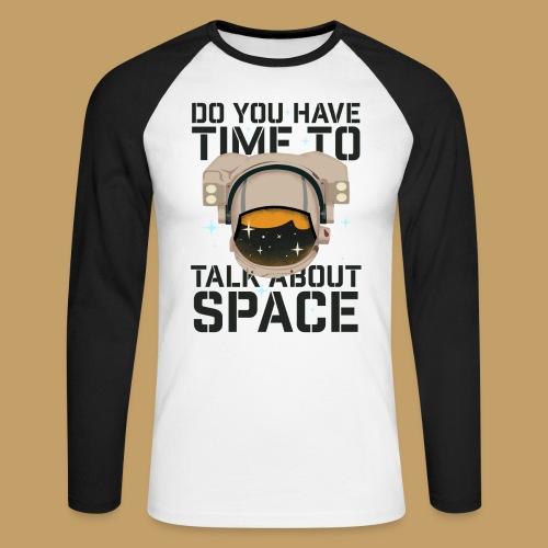 Time for Space - Koszulka męska bejsbolowa z długim rękawem