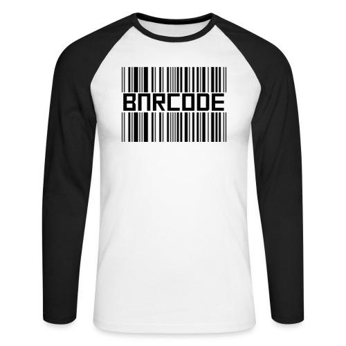 BARCODE WHITE - Men's Long Sleeve Baseball T-Shirt