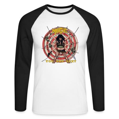 You Are Next wit shirt design jpg - Mannen baseballshirt lange mouw