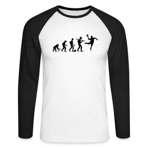Evolution - Männer Baseballshirt langarm