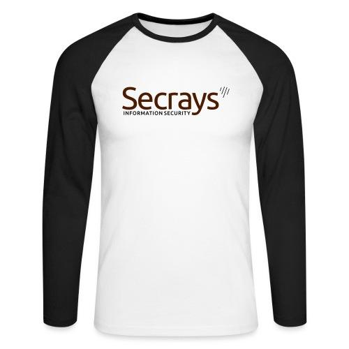 Secrays vektori logo - Miesten pitkähihainen baseballpaita