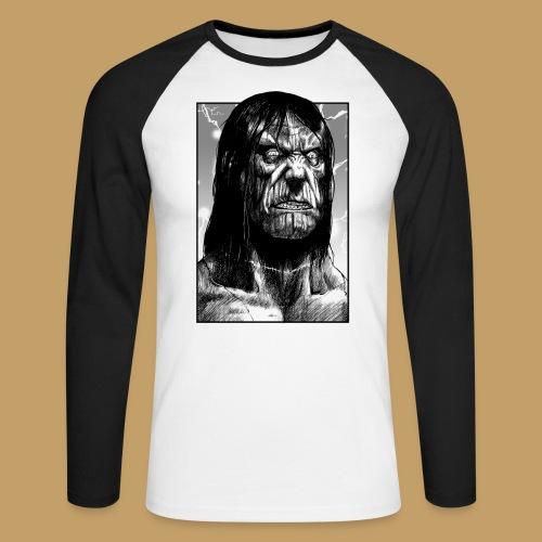 Frankenstein's Monster - Koszulka męska bejsbolowa z długim rękawem