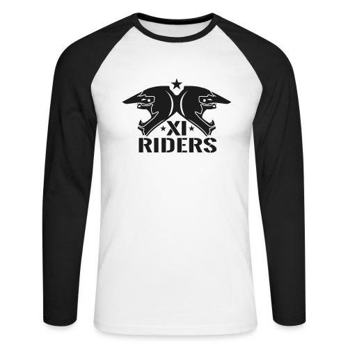 XIrider Logo schwarz png - Männer Baseballshirt langarm