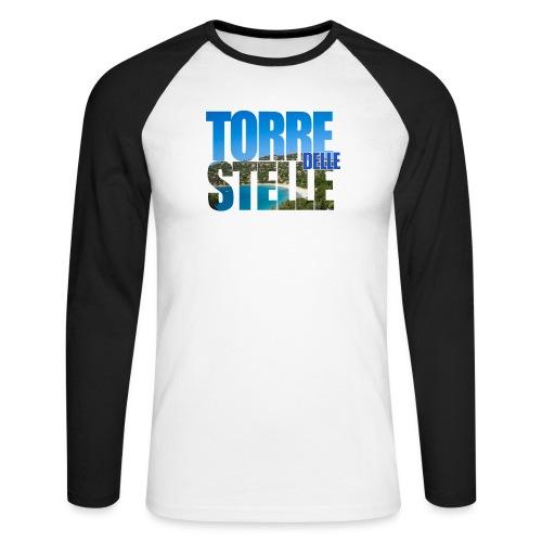 TorreTshirt - Maglia da baseball a manica lunga da uomo