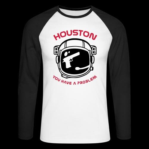 God bless America but... - Men's Long Sleeve Baseball T-Shirt