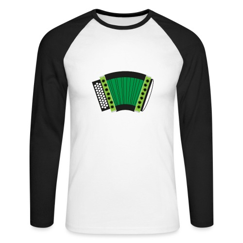 Schwyzerörgeli grün - Männer Baseballshirt langarm
