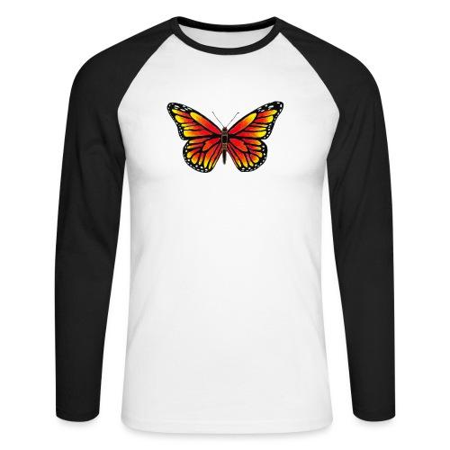 Sommerfugl - Langærmet herre-baseballshirt