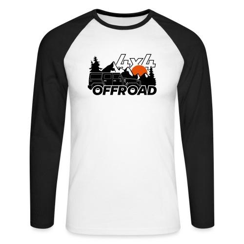 Offroad 4x4 Jeep Logo - Männer Baseballshirt langarm
