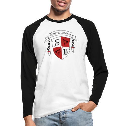 SD logo - sorte lænker - Langærmet herre-baseballshirt
