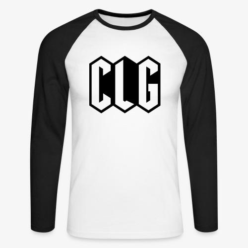 CLG DESIGN black - T-shirt baseball manches longues Homme