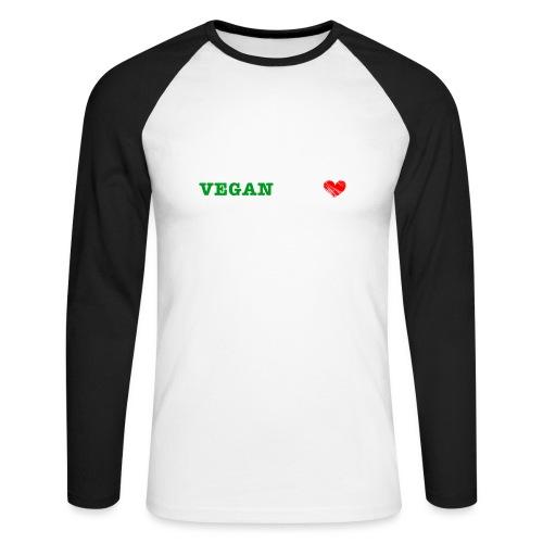 be my VEGANtine - white - Men's Long Sleeve Baseball T-Shirt