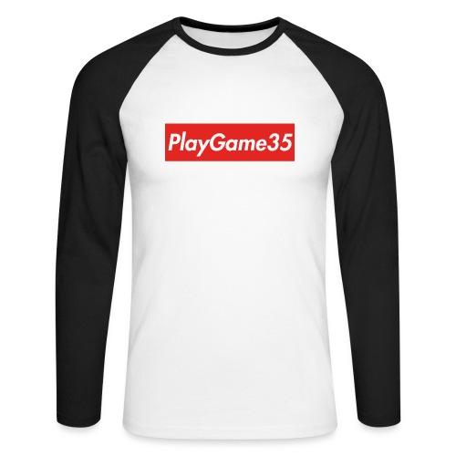 PlayGame35 - Maglia da baseball a manica lunga da uomo