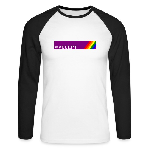 79 accept - Männer Baseballshirt langarm