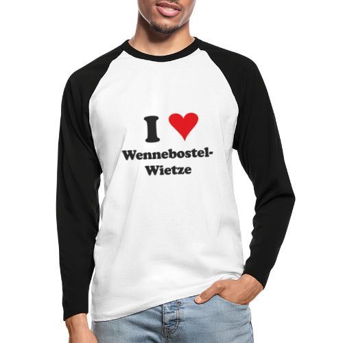I Love Wennebostel-Wietze - Männer Baseballshirt langarm