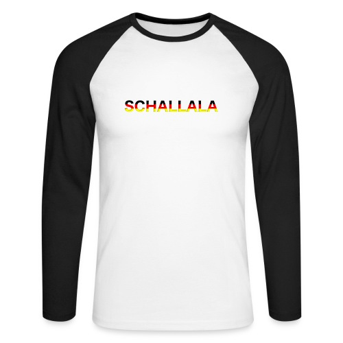 Schallala - Männer Baseballshirt langarm