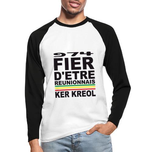 974 ker kreol fier et culture - T-shirt baseball manches longues Homme