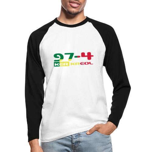 Logo 974 ker kreol VJR, rastafari - T-shirt baseball manches longues Homme