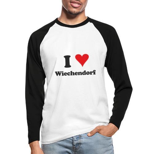 I Love Wiechendorf - Männer Baseballshirt langarm