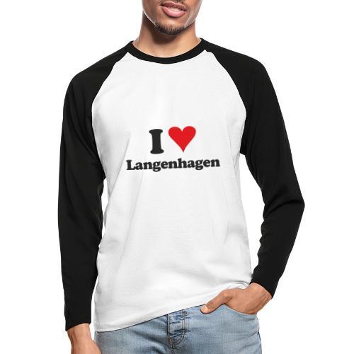 I Love Langenhagen - Männer Baseballshirt langarm