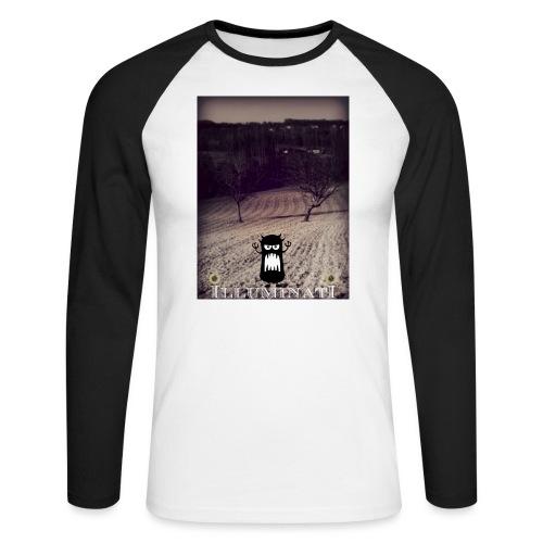 illuminati - T-shirt baseball manches longues Homme